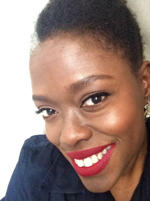 Holiday makeup look red lip tutorial for WOC