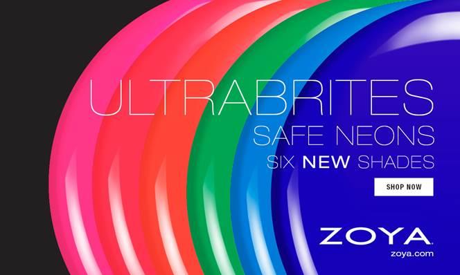 zoya ultrabrites neon nail polish